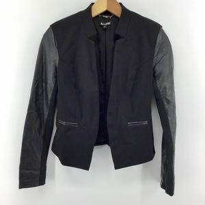 Express | Open Front Blazer Jacket Faux Leather